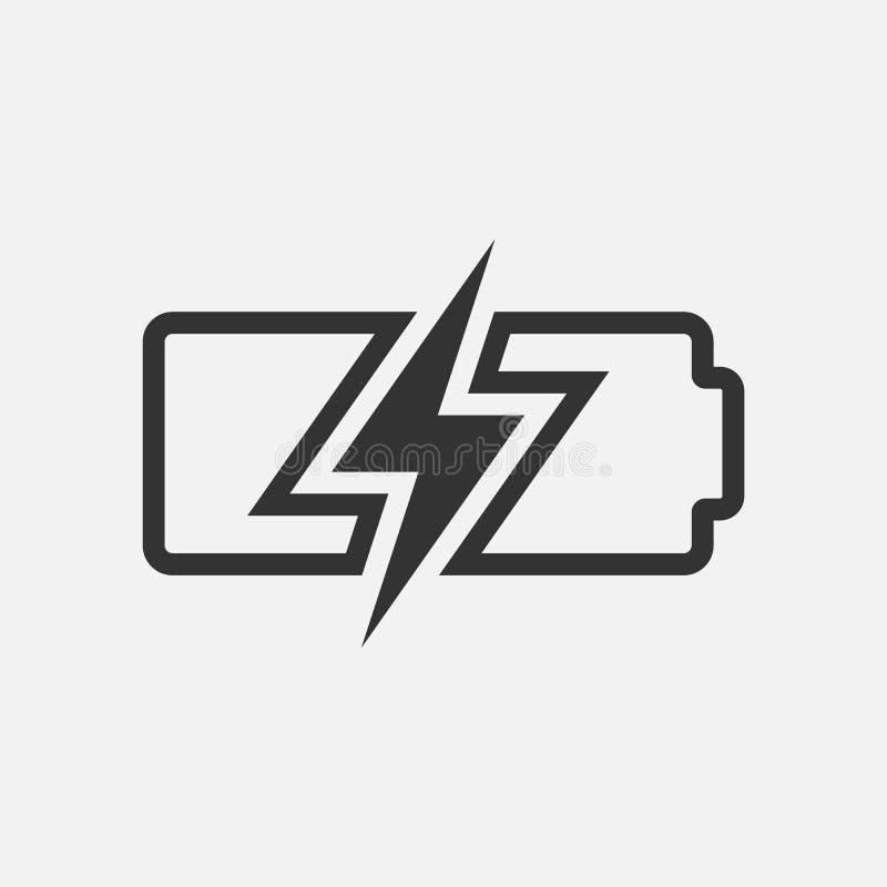Accumulator simple icon, battery symbol isolated on white background. Vector illustration. Eps 10 stock illustration