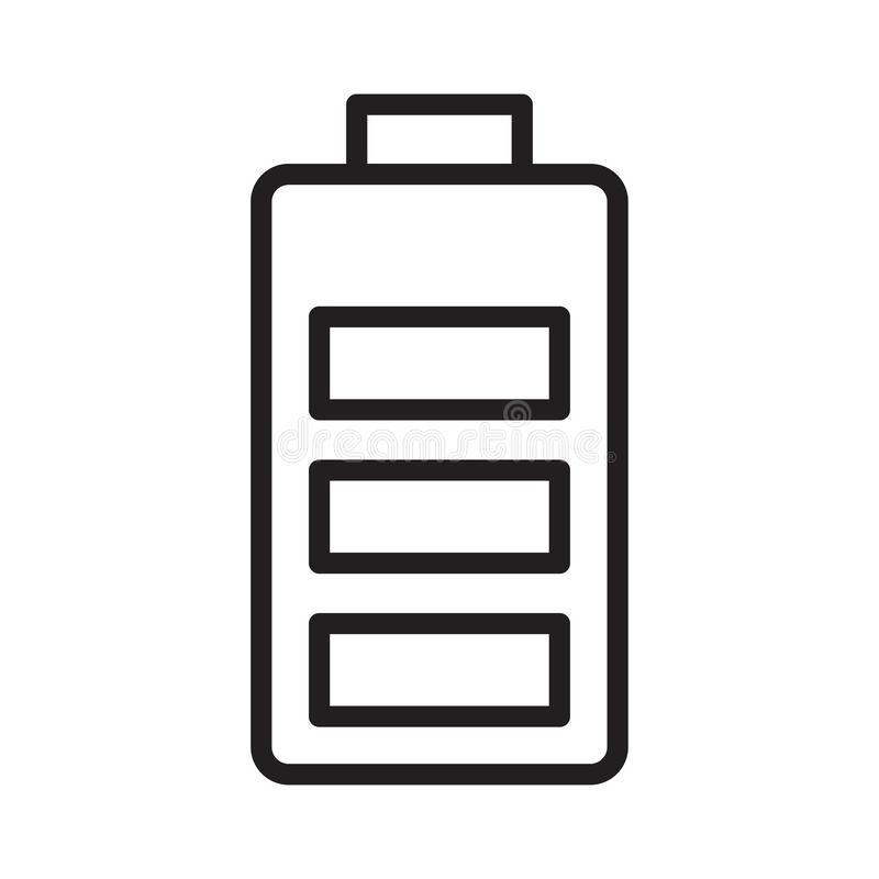 Accumulator thin line vector icon. Accumulator line icon for website design and development, app development. Premium pack stock illustration