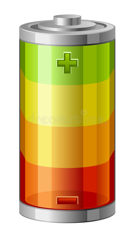 Accumulator. On a white background vector illustration