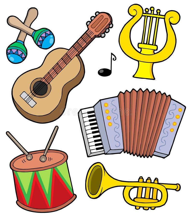 Accumulazione 1 degli strumenti di musica illustrazione vettoriale