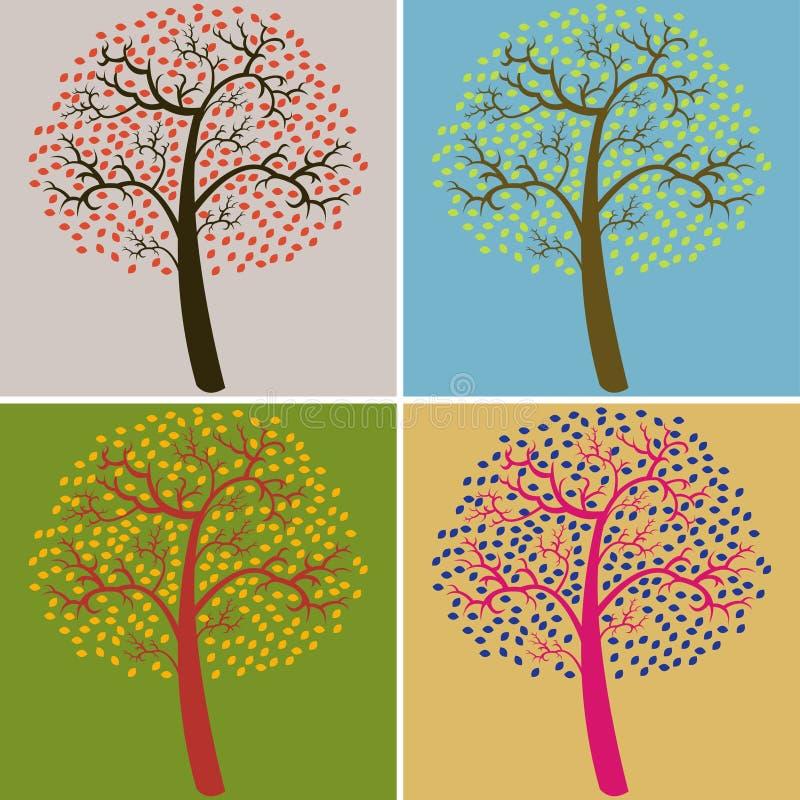 Accumulazione degli alberi illustrazione vettoriale