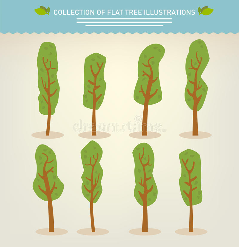 Accumulazione degli alberi disegnati a mano royalty illustrazione gratis