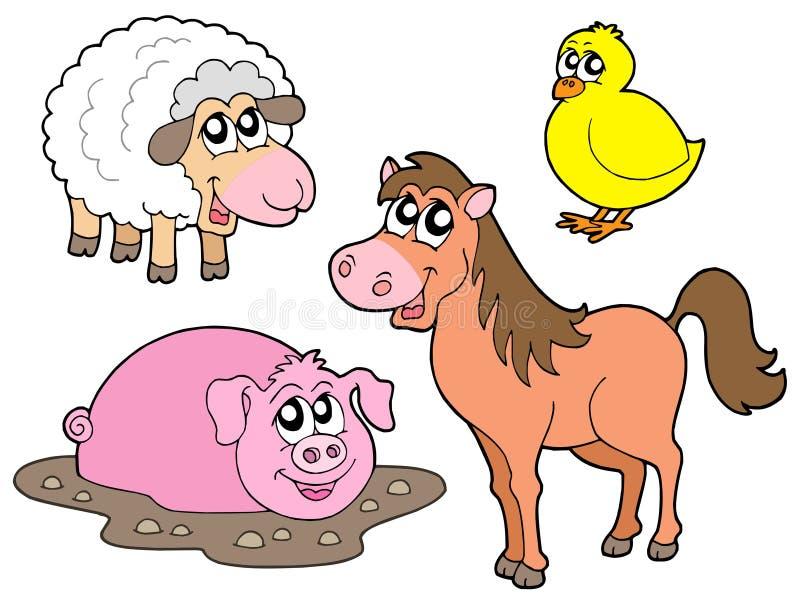 Accumulazione degli animali del paese illustrazione di stock