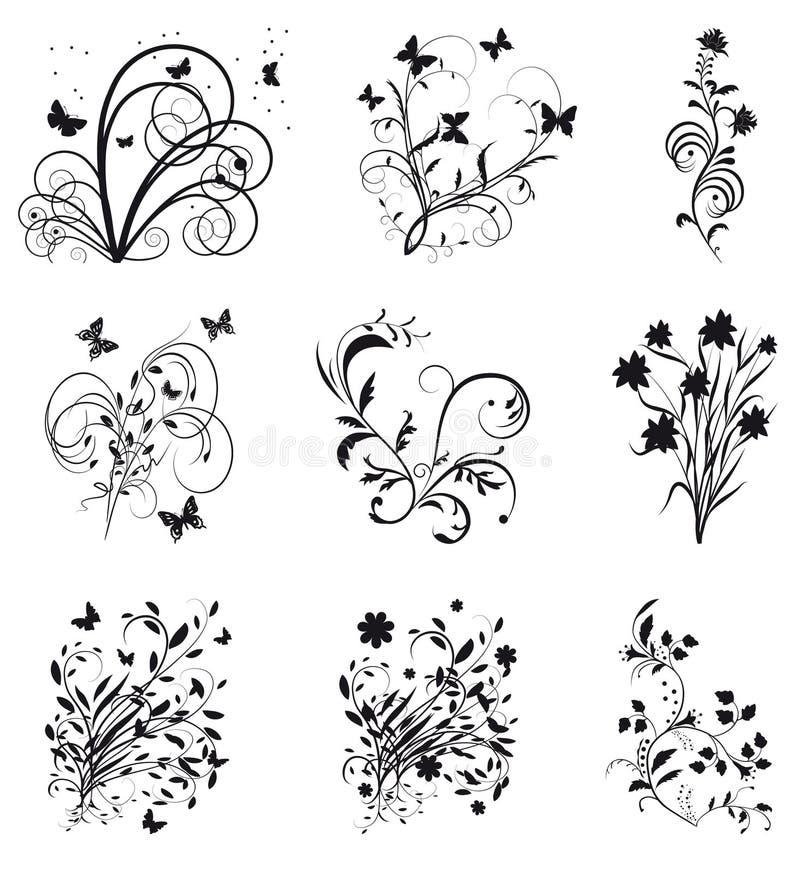 Accumulazione degli elementi decorativi per il disegno royalty illustrazione gratis