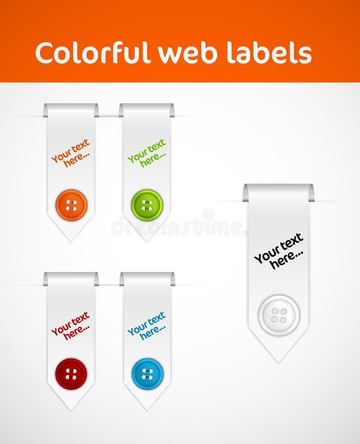 Accumulazione degli elementi di Web illustrazione di stock