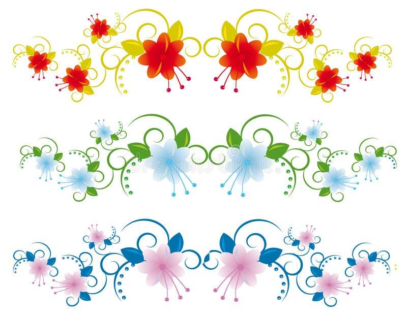 Accumulazione degli elementi floreali royalty illustrazione gratis