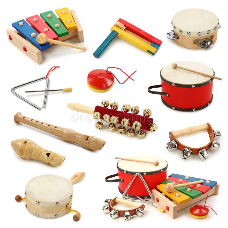 Accumulazione degli strumenti musicali fotografie stock