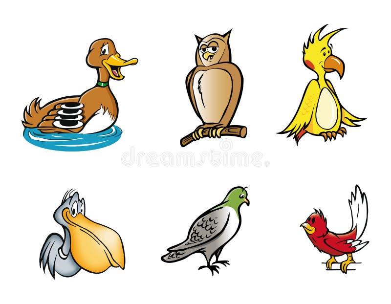 Accumulazione degli uccelli illustrazione di stock