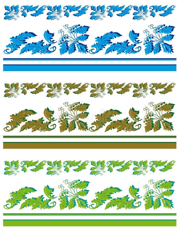 Accumulazione dei bordi della pianta illustrazione di stock