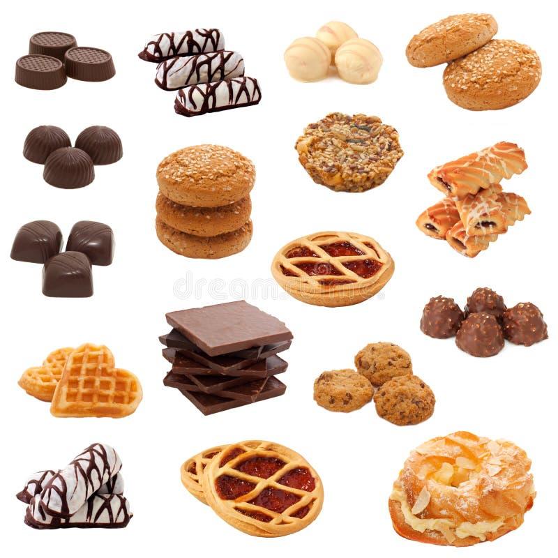 Accumulazione dei dolci. Collage. fotografie stock