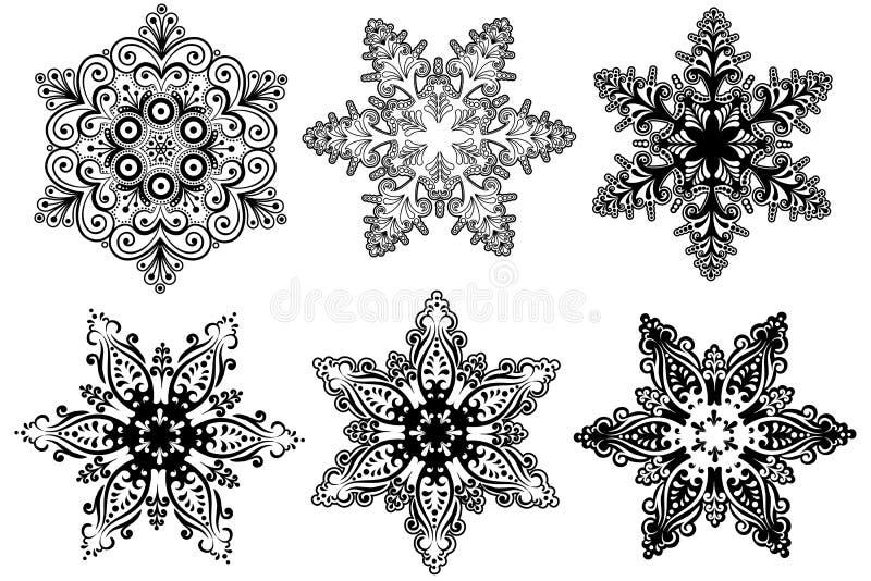 Accumulazione dei fiocchi di neve royalty illustrazione gratis