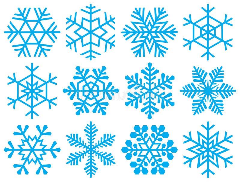 Accumulazione dei fiocchi di neve. illustrazione di stock