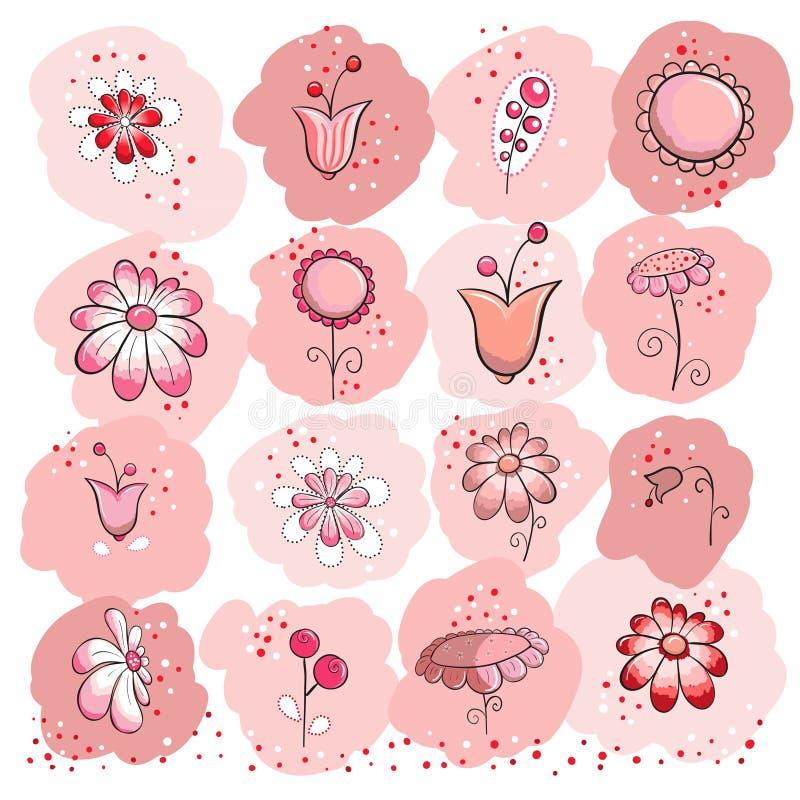 Accumulazione dei fiori dentellare illustrazione di stock