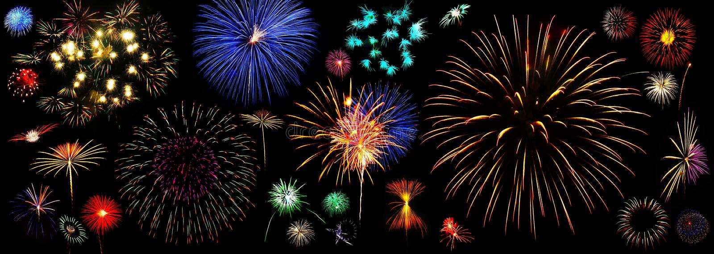 Accumulazione dei fuochi d'artificio immagine stock libera da diritti