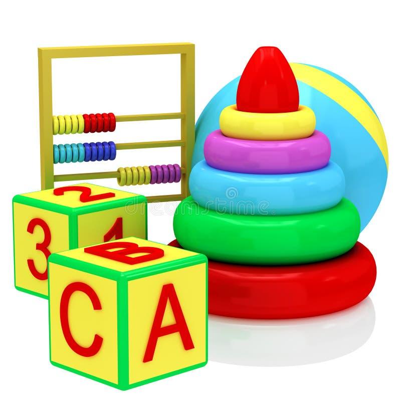 Accumulazione dei giocattoli illustrazione vettoriale