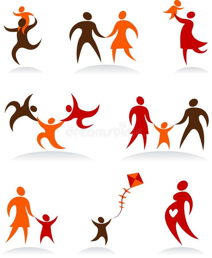 Accumulazione dei marchi astratti della gente - 2 royalty illustrazione gratis