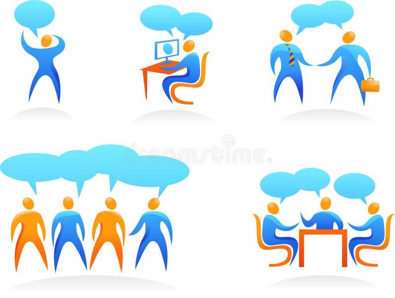 Accumulazione dei marchi astratti della gente - 4 illustrazione vettoriale