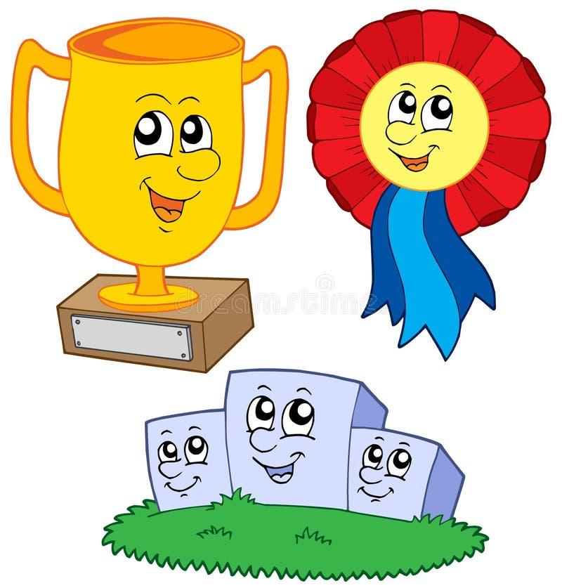 Accumulazione dei trofei del fumetto illustrazione di stock