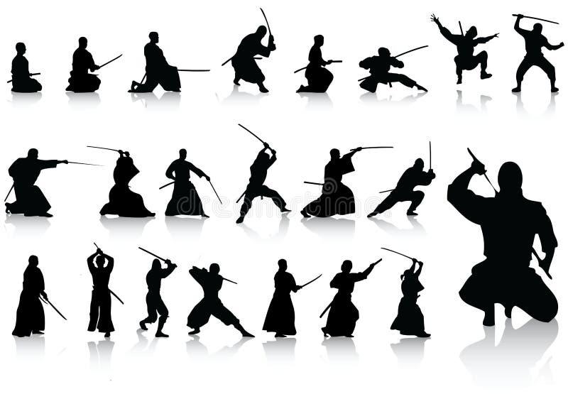 Accumulazione del combattente royalty illustrazione gratis