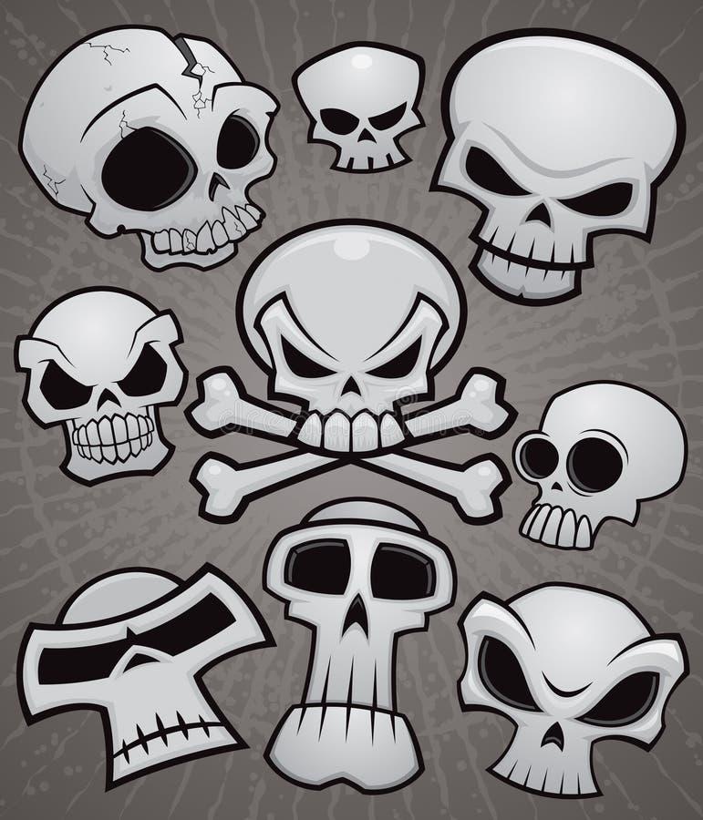 Accumulazione del cranio del fumetto illustrazione vettoriale