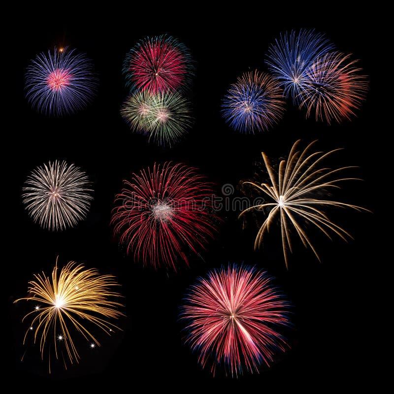 Accumulazione del fuoco d'artificio immagine stock libera da diritti