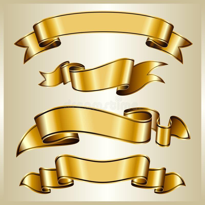 Accumulazione del nastro dell'oro illustrazione di stock