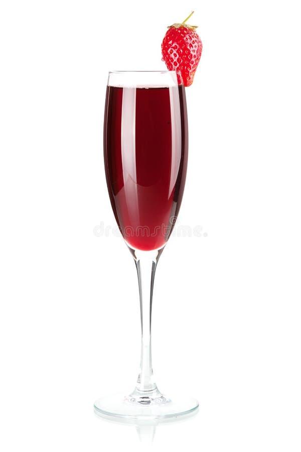 Accumulazione del vino - champagne della fragola fotografie stock libere da diritti