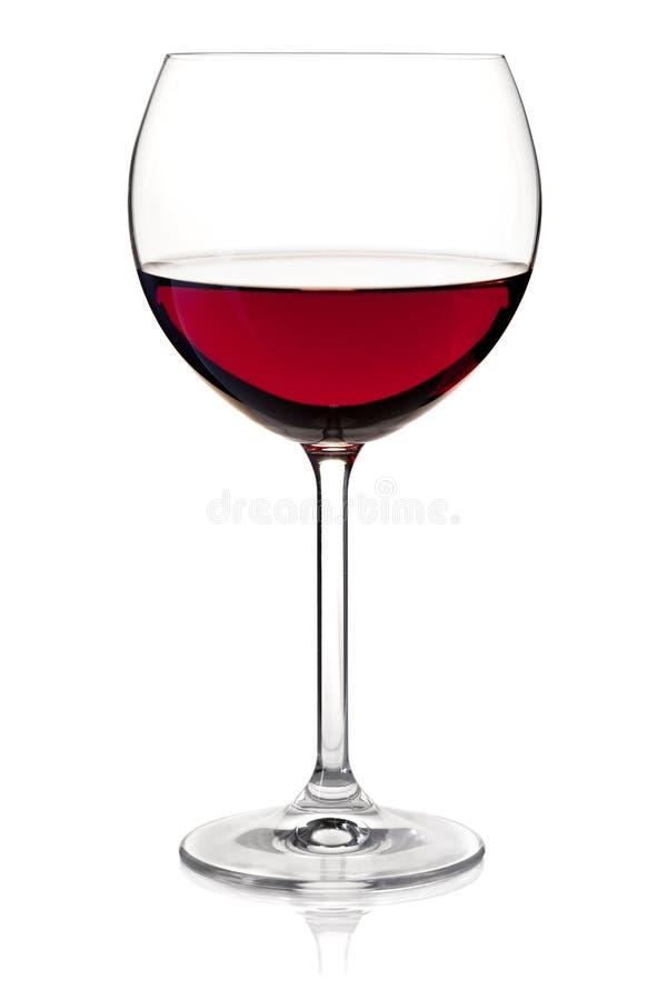 Accumulazione del vino - vino rosso in vetro fotografie stock