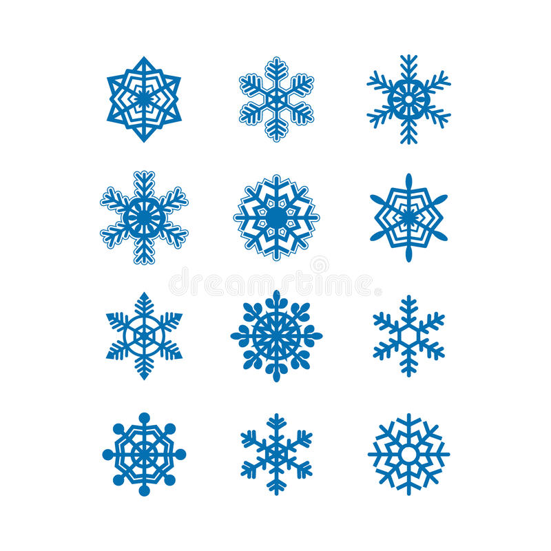 Accumulazione dell'icona dei fiocchi di neve. Vettore royalty illustrazione gratis