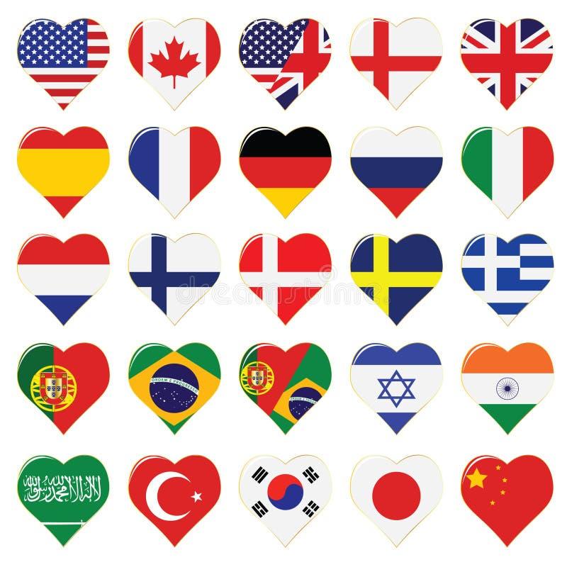 Accumulazione dell'icona di linguaggio di Web royalty illustrazione gratis