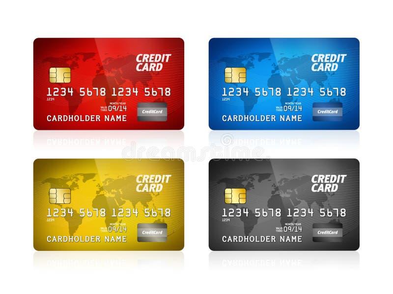 Accumulazione della carta di credito isolata illustrazione vettoriale