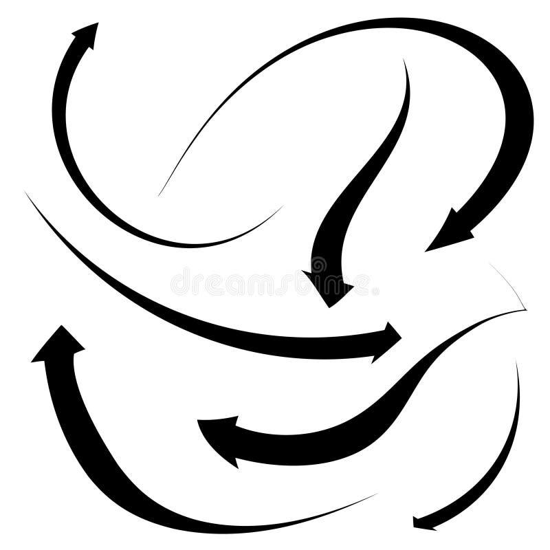 Accumulazione della freccia royalty illustrazione gratis