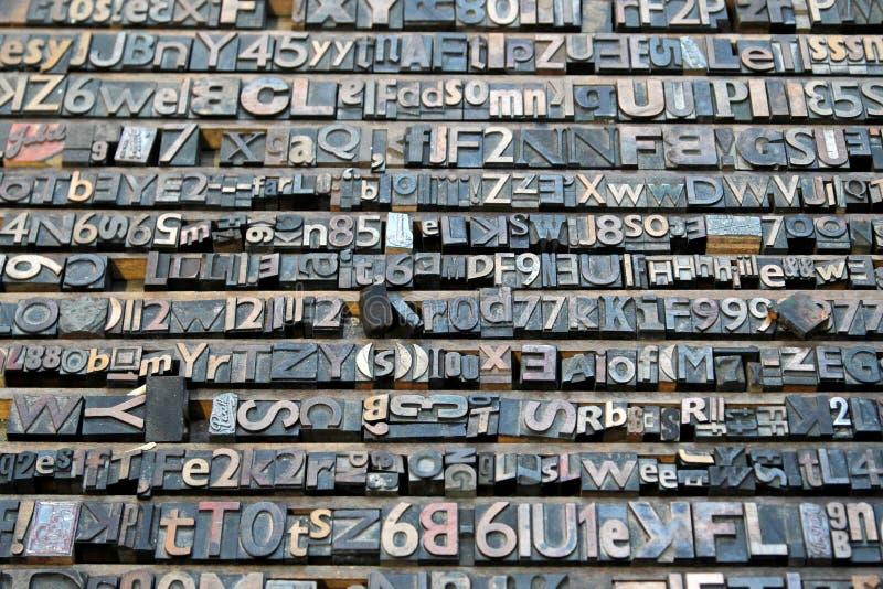 Accumulazione della lettera della litografia immagine stock