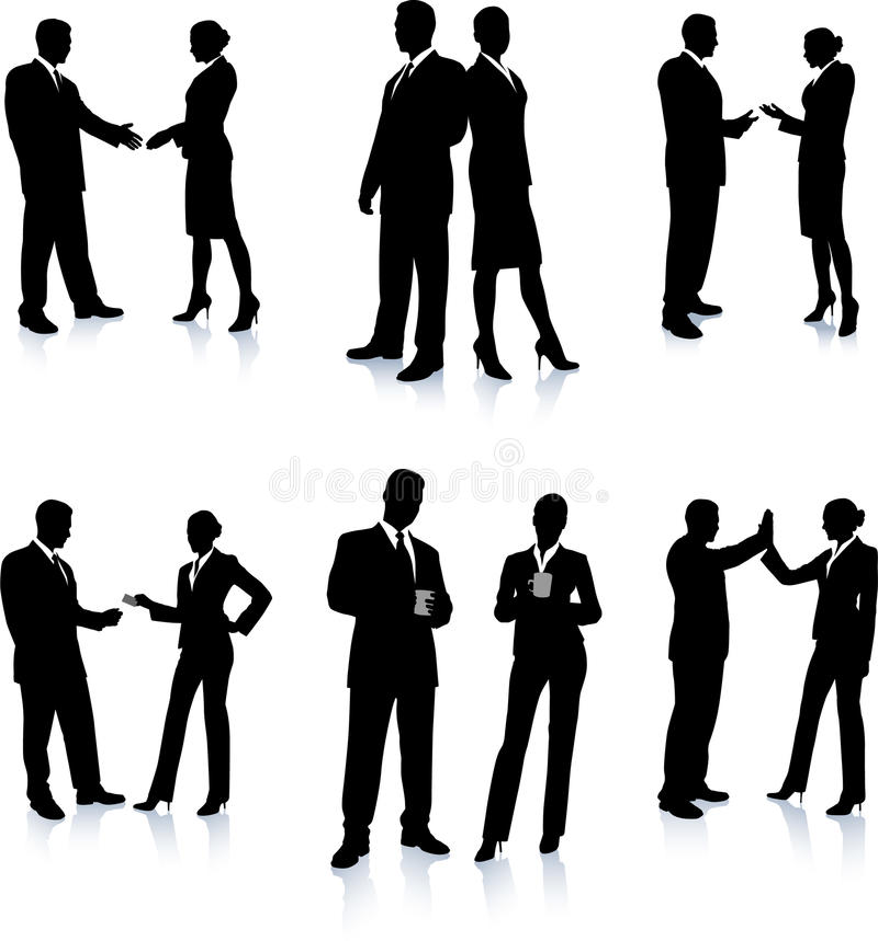 Accumulazione della siluetta della squadra di affari illustrazione vettoriale