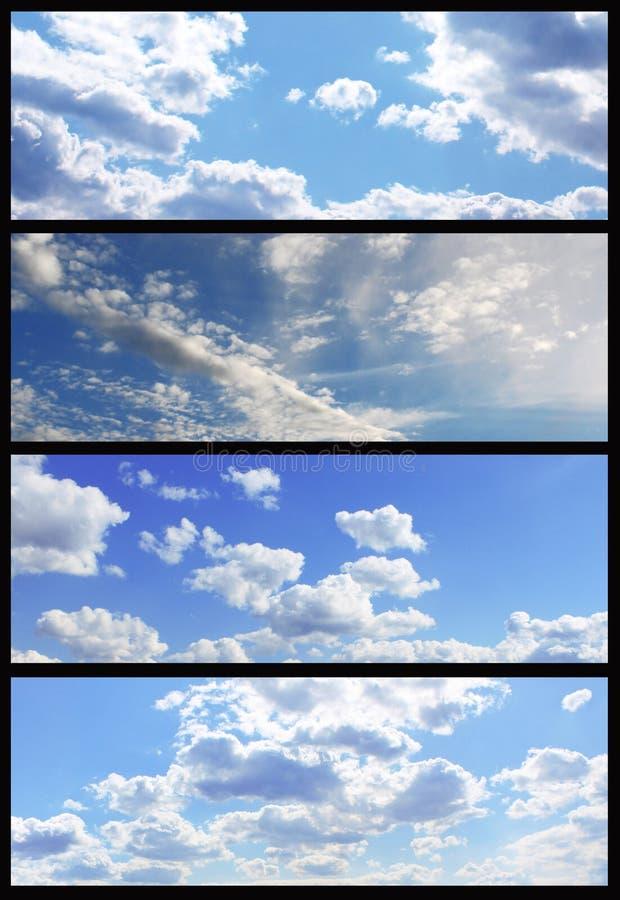 Accumulazione delle bandiere del cielo fotografia stock