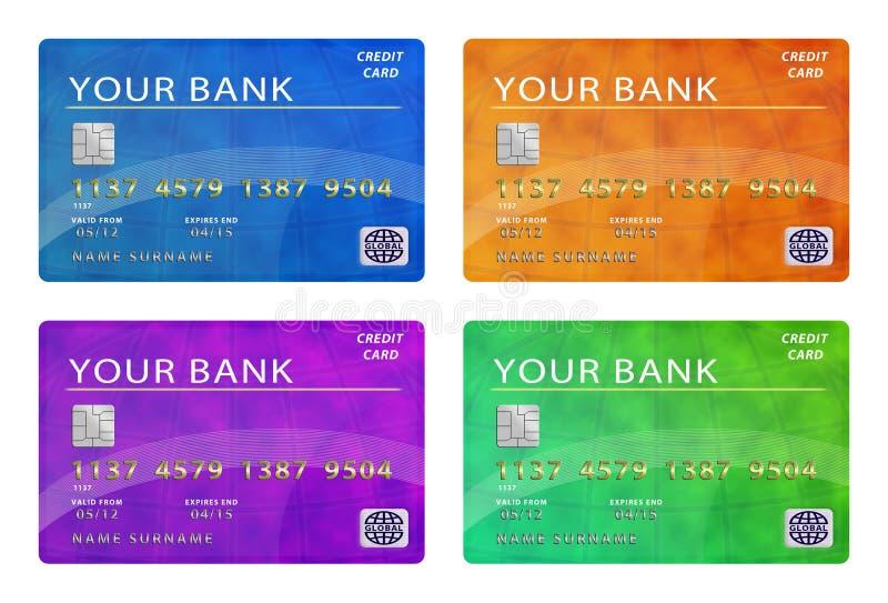 Accumulazione delle carte di credito immagini stock libere da diritti