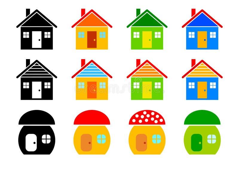 Accumulazione delle case royalty illustrazione gratis