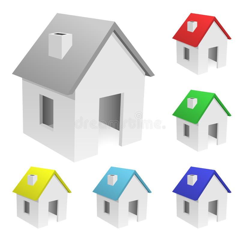 Accumulazione delle case molto piccole royalty illustrazione gratis