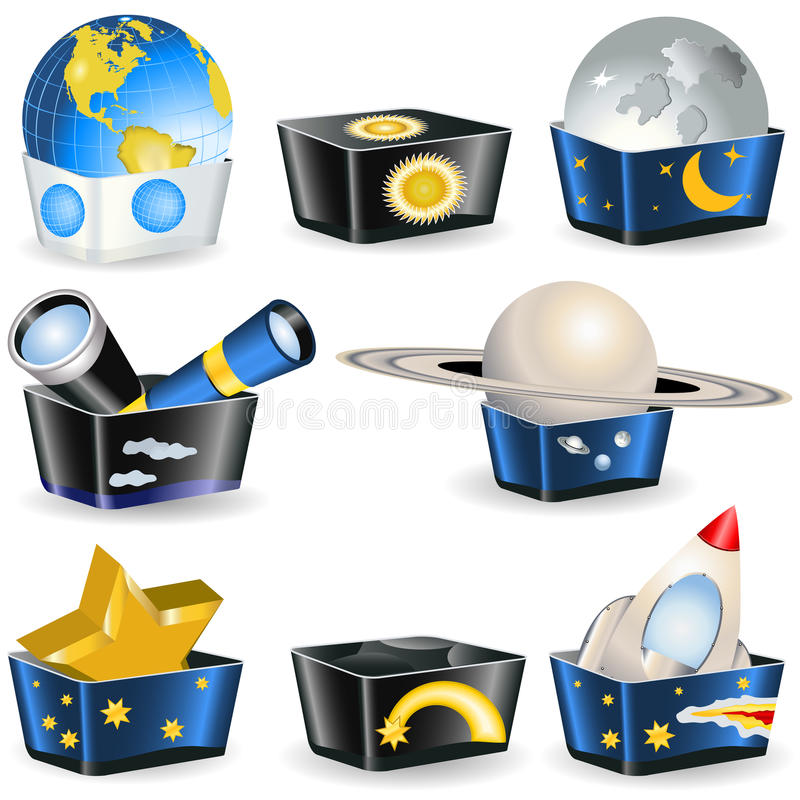 Accumulazione delle caselle - astronomia royalty illustrazione gratis