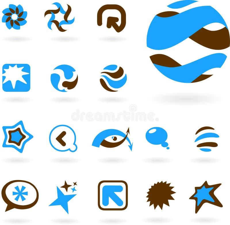 accumulazione delle icone astratte illustrazione vettoriale