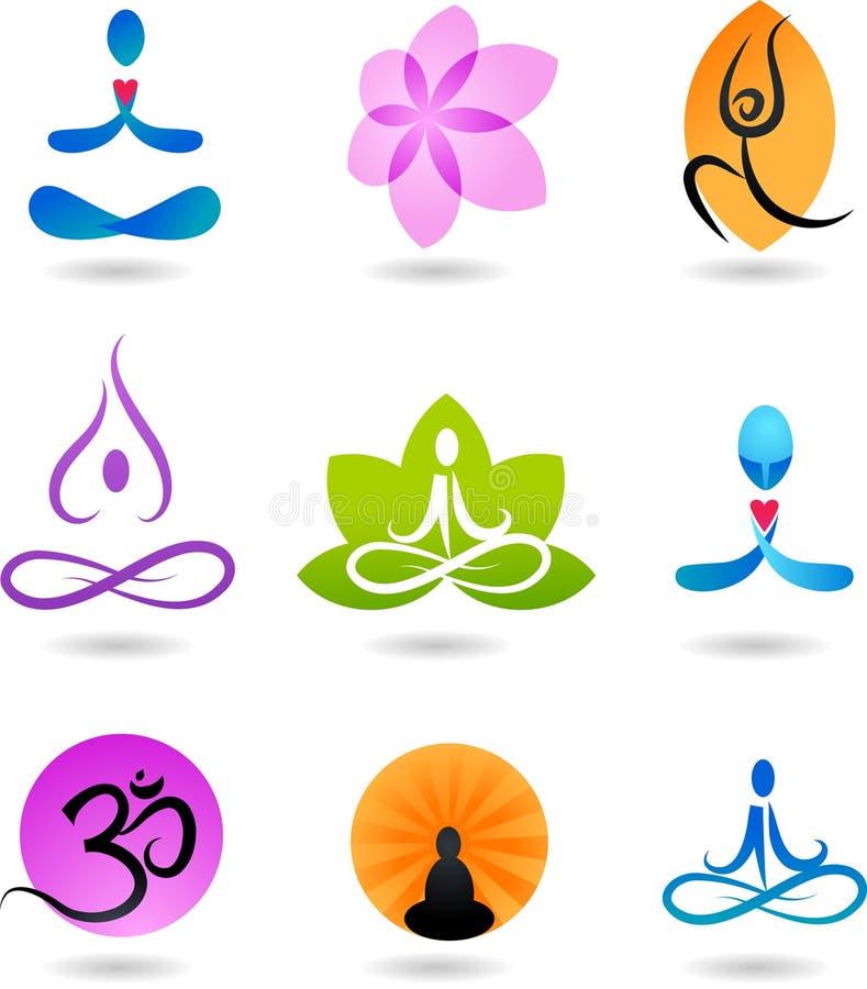 Accumulazione delle icone di zen - illustrazione di vettore illustrazione vettoriale