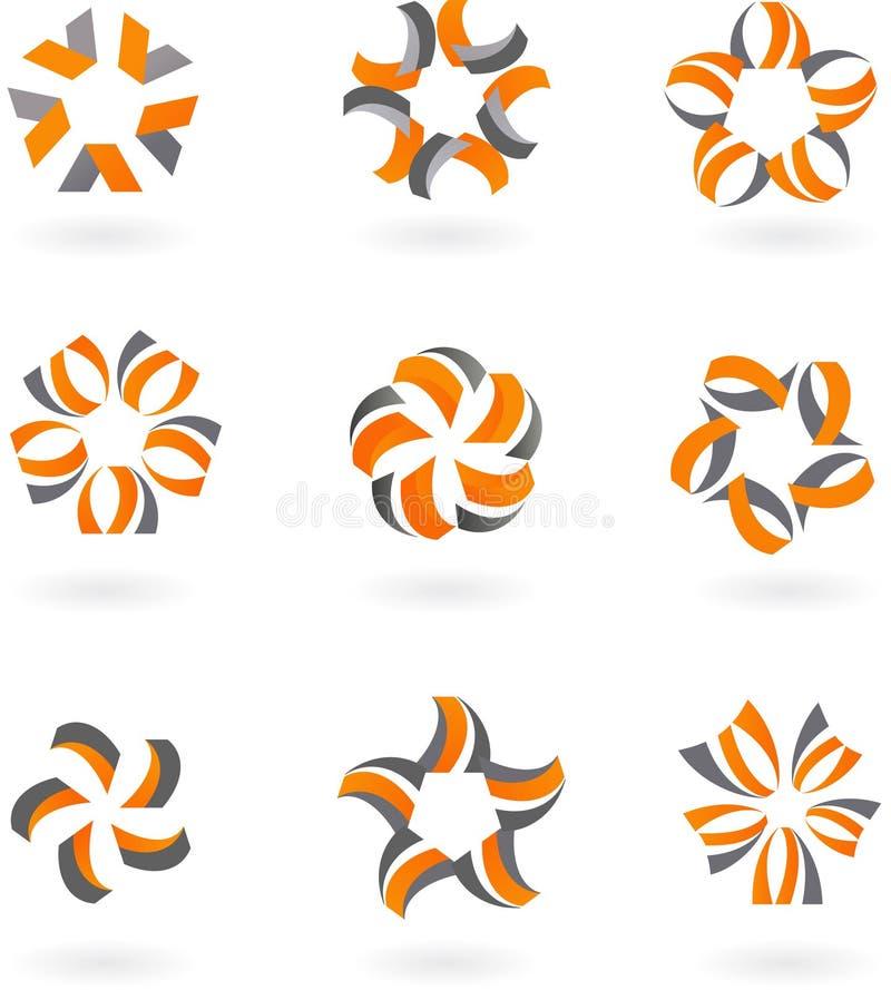 Accumulazione delle icone e dei marchi astratti - 5 illustrazione di stock