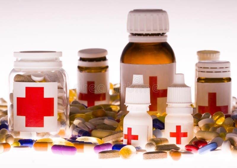 Accumulazione delle medicine fotografia stock