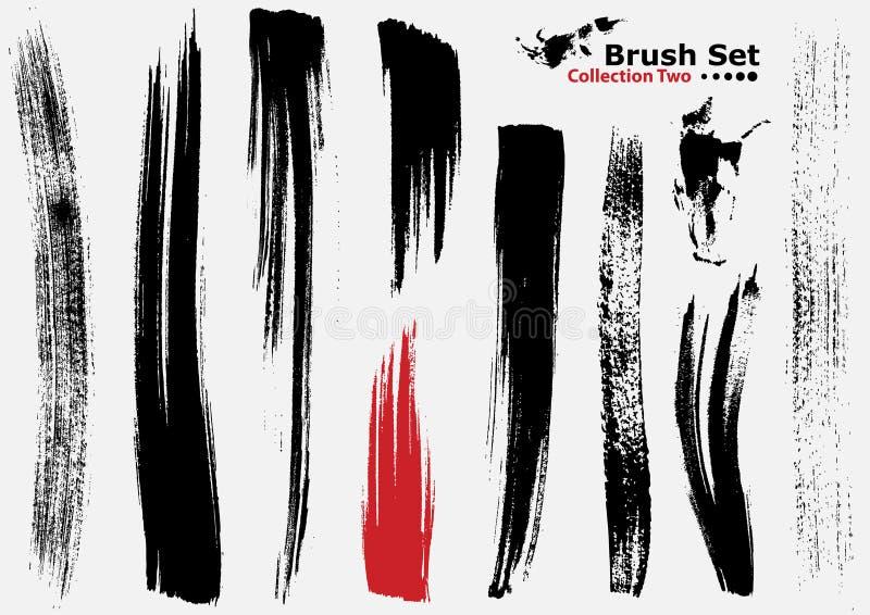 Accumulazione delle spazzole altamente dettagliate di vettore - 2 royalty illustrazione gratis