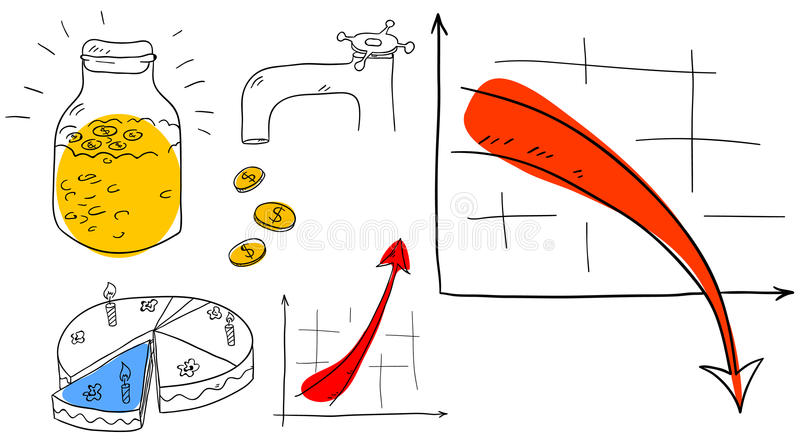 Accumulazione di affari illustrazione vettoriale