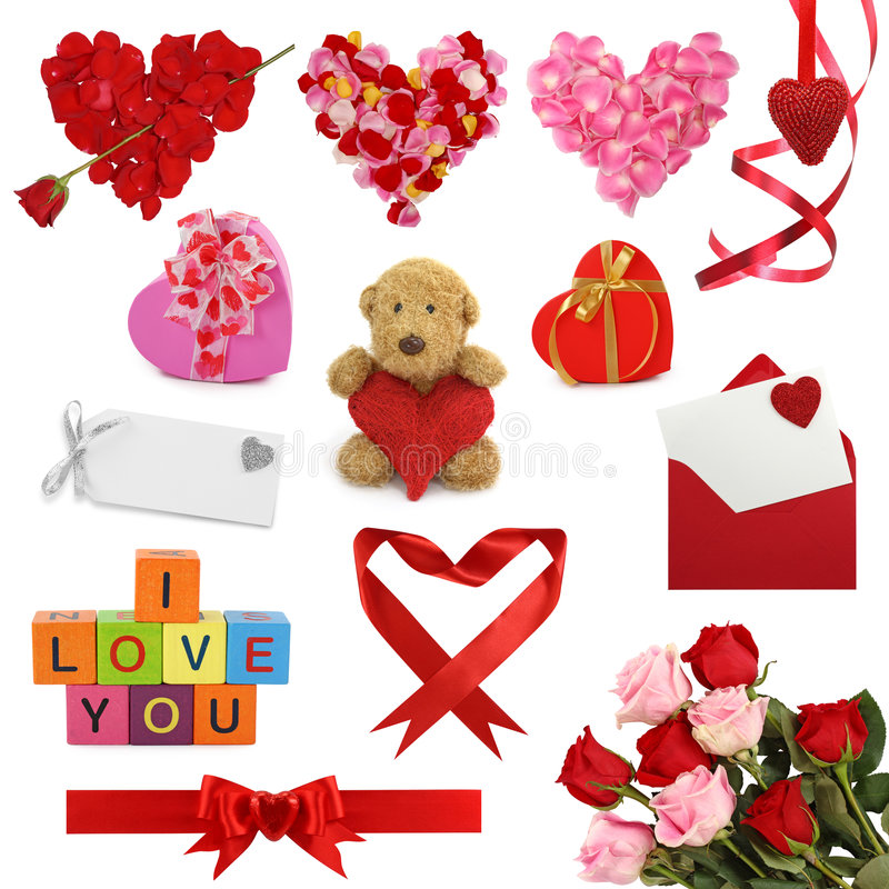 Accumulazione di giorno del biglietto di S. Valentino fotografia stock