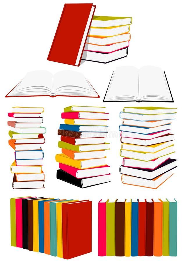 Accumulazione di libri fotografia stock
