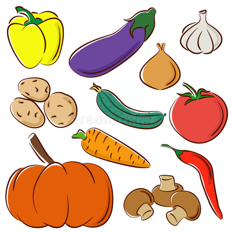 Accumulazione di verdure royalty illustrazione gratis