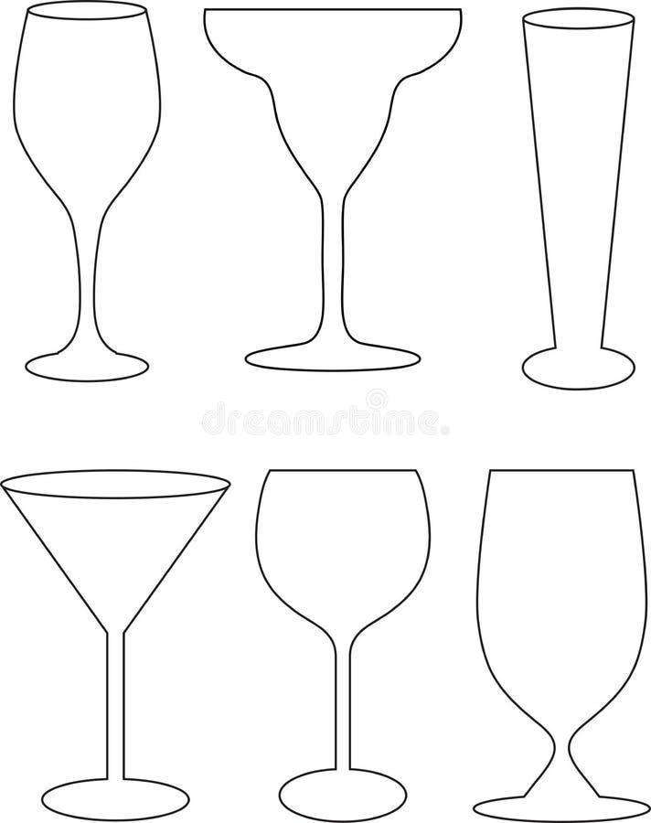 Accumulazione di vetro royalty illustrazione gratis