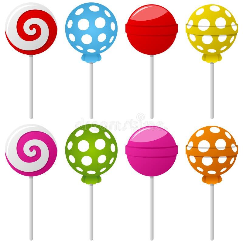 Download Accumulazione Dolce Del Lollipop Illustrazione Vettoriale - Immagine: 24847802